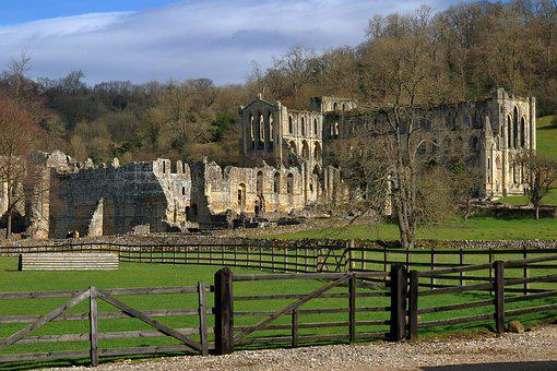 Rievaulx, Abbey, Yorkshire, Exterior, Church, Ruin
