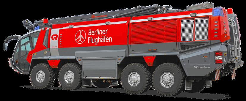 Photomontage, Rosenbauer-panther, Airfield Fire Truck