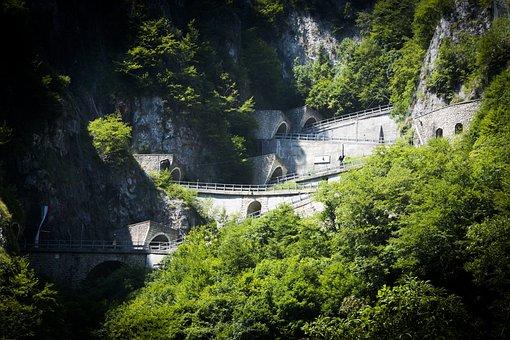 Pass San Boldo, Pass, Road, Street, Mountains, Alpine