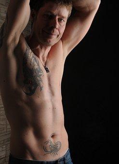 Man, Sexy, Tattooed, Muscular, Male, Athletic, Tattoos