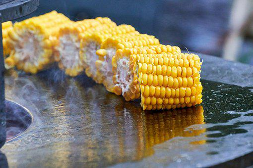 Corn, Piston, Barbecue, Oil, Fat, Hot, Bbq, Plant
