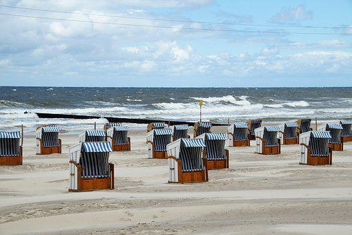 The Baltic Sea, Coast, Beach, Beach Baskets, Protection