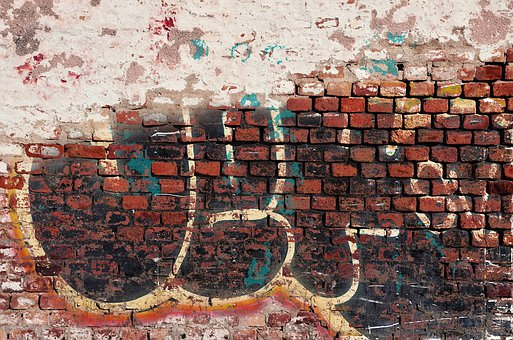 Brick, Brick Wall, Brick Background, Graffiti