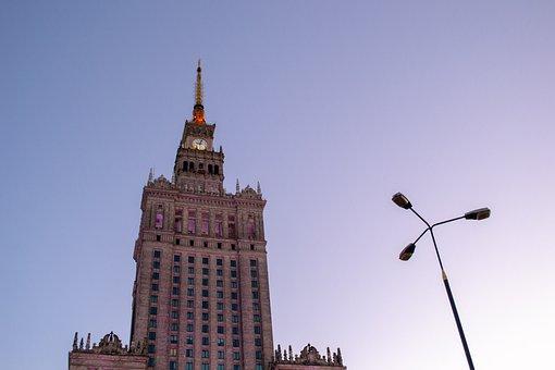 Warsaw, Poland, Capital, High Rise Building