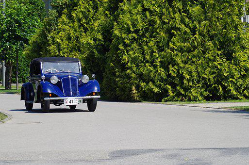 Old, Car, 1000 Miles Of Czechoslovak, Cars In 1935
