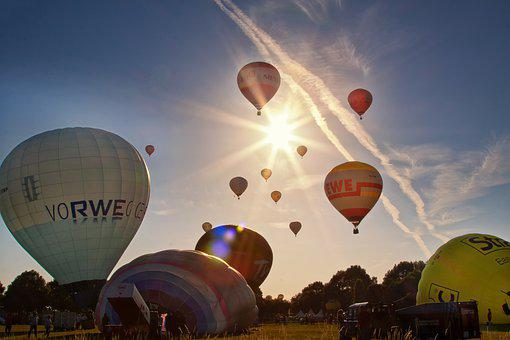 Hot Air Balloon, Flying, Balloon, Sky, Summer, Colorful
