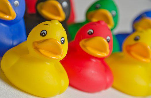Toy, Duck, Yellow, Funny, Bath, Fun, Cute, Plastic