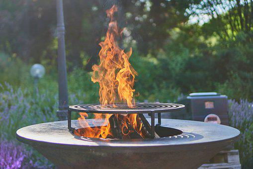 Fire, Fireplace, Grill, Barbecue Grill, Cast Iron