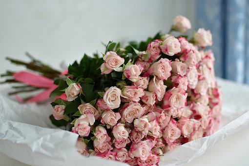 Rose, Bouquet, Flowers