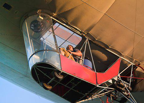 Hot Air Balloon, Gondola, Passenger, Drive, Flying