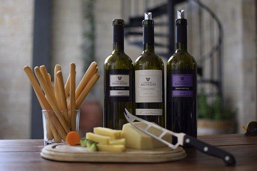 Wine, Bottles, Bottle, Glass, Beverage, Cheese