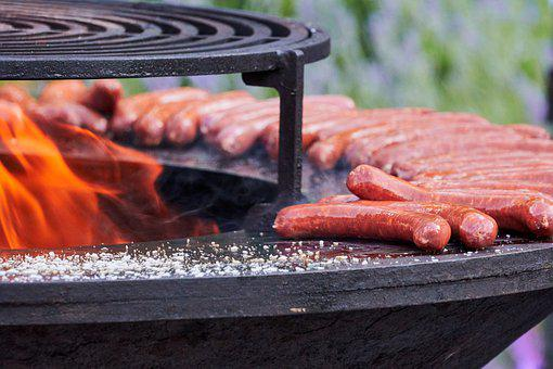 Sausage, Grill, Barbecue, Meat, Hot, Bbq, Fireplace