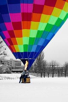 Hot Air Ballon, Ballon, Flying, Colorful, Adventure