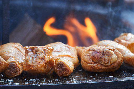 Chicken, Poultry, Thigh, Grill, Barbecue, Meat, Hot