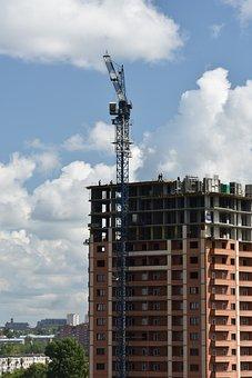 Construction, House, Crane, Building, Modern
