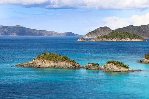 Island, Ocean, Blue, Vacation, Sea, Beach, Water
