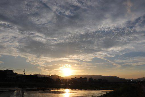 Sunset, Landscape, Nature, Sky, Mountains, Outdoors