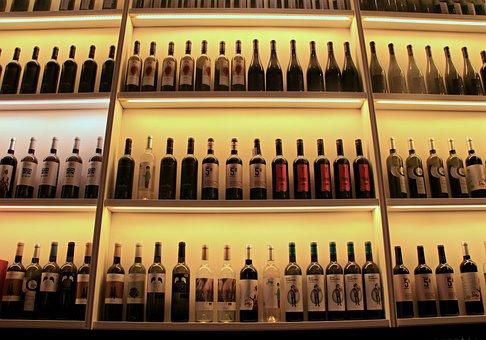 Wine, Bottles, Arrangement, Beverage, Alcohol, Liquid