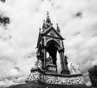 Albertmemorial, London, Kensington, Statue