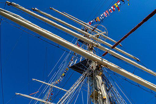 Mast, Sky, Sailing Ship, Blue, Maritim, Ship, Nautical