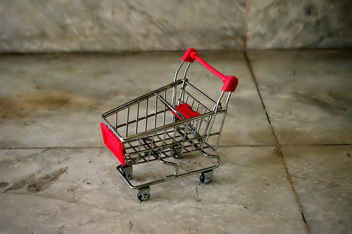 Shopping Cart, Rusted, Small, Toy, Mini, Shop, Cart