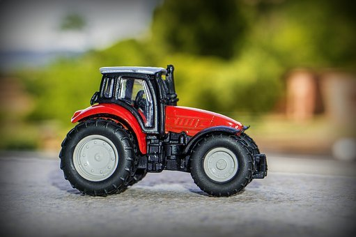 Tractor, Miniature, Toys, Agriculture, Towing, Vehicle