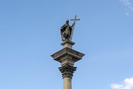 Warsaw, Poland, Colon Sigmund, Monument, Colon