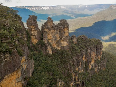 Three Sisters, Blue Mountains, Mountains, Nature