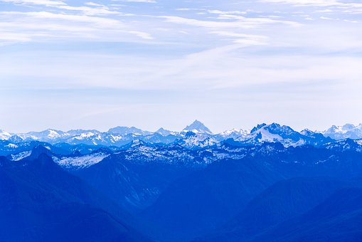 Blue, Mountains, Seattle, Washington, Landscape, Nature