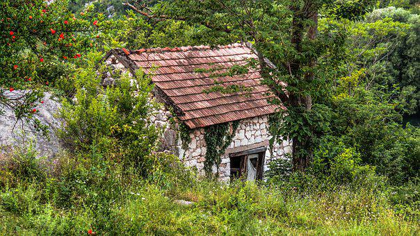 House, Outdoor, Old Nature, Building, Cabin, Stone
