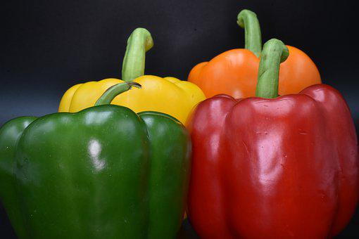 Vegetable, Paprika, Red, Vegetables, Green, Peppers