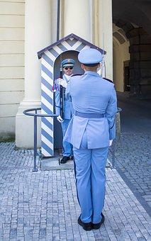 Changing Of The Guard, Prague Castle, Castle Guard