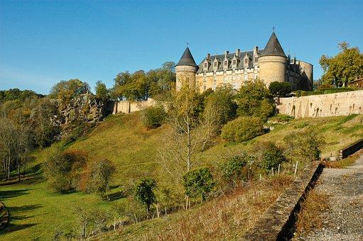 Castle, Chateau, France, Rochechouart, Architecture