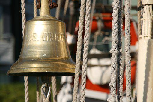 Sailing Boat, Sailing Vessel, Bell, Ropes, Nautical