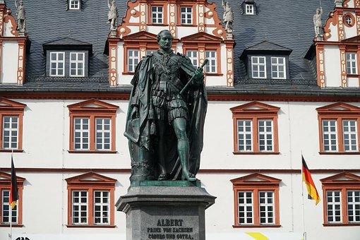 Coburg, Albert, Saxony, Monument, Town Hall