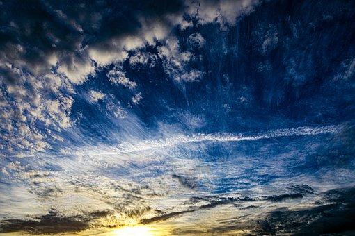 Sky, Clouds, Sun, Sunrise, Morning, Landscape, Nature