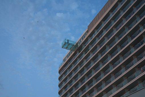 Skyscraper, Cleaning, Window, Service, Repair