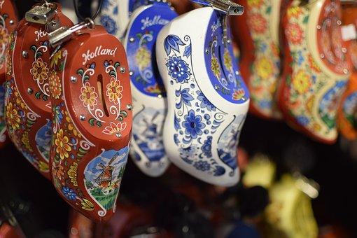 Clogs, Souvenir, Dutch, Holland, Netherlands, Pattern