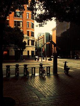 Urban, Streetlight, City, Evening, Outdoors, Street