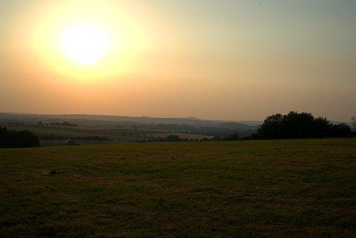 Sunset, Sun, Summer, Sky, Landscape, Mood, Dusk