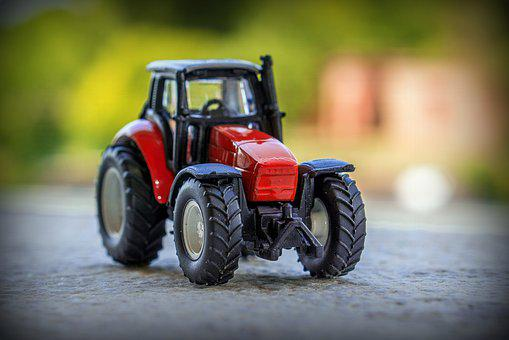 Tractor, Miniature, Toys, Play, Vehicle, Colorful
