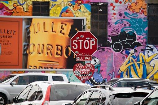 Graffiti, Brooklyn, Bushwick, New York, Usa, Van, Truck