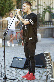 Man, Person, Boy, Young, Soloist, Voice, Microphone