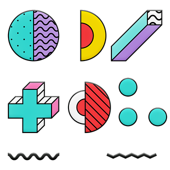Memphis Shapes, 80's Design, Eighties, I Love The 80's