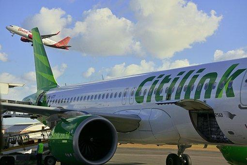 Plane, Citilink Indonesia, Airport, Flight, Airplane