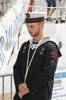 Marin, Holding, Travel, Boat, Ship, Set, Maritime