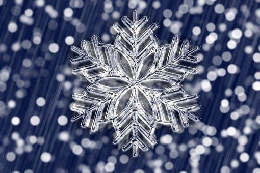 Ice Crystal, Snowflake, Bokeh, Ice, Form, Christmas