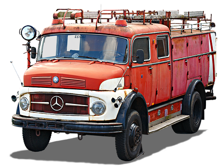Isolated, Mercedes-benz L 1113, Tlf, Brandweer, Old