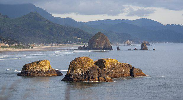Cannon Beach, Beach, Oregon, Haystack, Cannon, Ocean