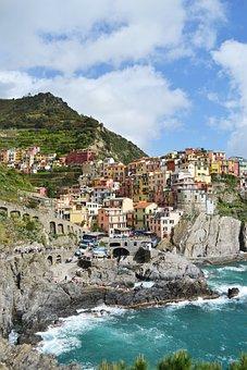Manarola, Cinqueterre, Italy, Colorful, Liguria, Italia
